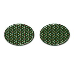Cute Pretty Elegant Pattern Cufflinks (oval) by creativemom