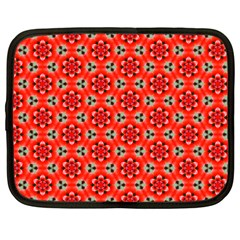 Cute Pretty Elegant Pattern Netbook Sleeve (large) by creativemom