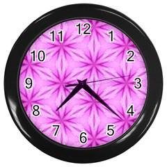 Cute Pretty Elegant Pattern Wall Clock (black) by creativemom