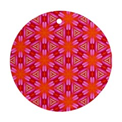 Cute Pretty Elegant Pattern Round Ornament by creativemom