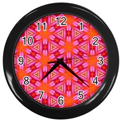Cute Pretty Elegant Pattern Wall Clock (black) by creativemom