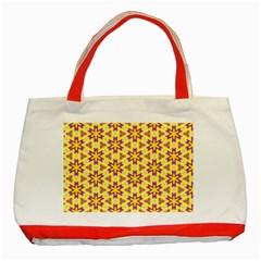 Cute Pretty Elegant Pattern Classic Tote Bag (red) by creativemom