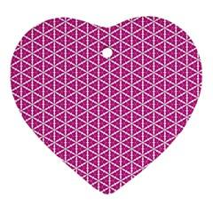 Cute Pretty Elegant Pattern Heart Ornament (two Sides) by creativemom