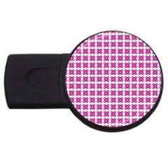 Cute Pretty Elegant Pattern 4gb Usb Flash Drive (round) by creativemom