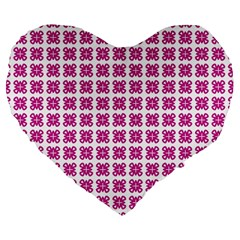 Cute Pretty Elegant Pattern 19  Premium Flano Heart Shape Cushion by creativemom