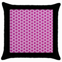 Cute Pretty Elegant Pattern Black Throw Pillow Case by creativemom