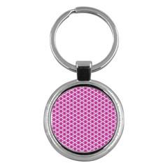 Cute Pretty Elegant Pattern Key Chain (round) by creativemom