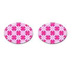 Cute Pretty Elegant Pattern Cufflinks (oval) by creativemom