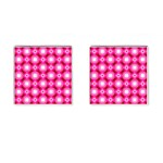 Cute Pretty Elegant Pattern Cufflinks (Square) Front