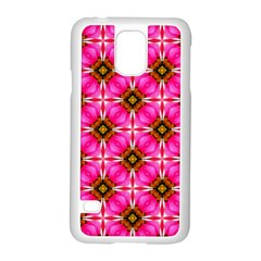 Cute Pretty Elegant Pattern Samsung Galaxy S5 Case (white) by creativemom