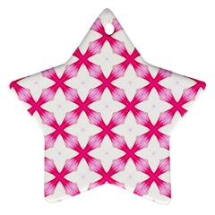 Cute Pretty Elegant Pattern Star Ornament by creativemom