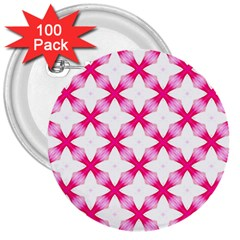 Cute Pretty Elegant Pattern 3  Button (100 Pack) by creativemom