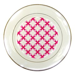 Cute Pretty Elegant Pattern Porcelain Display Plate by creativemom