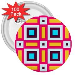 Cute Pretty Elegant Pattern 3  Button (100 Pack) by creativemom