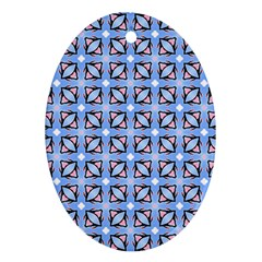 Cute Pretty Elegant Pattern Oval Ornament (two Sides) by creativemom