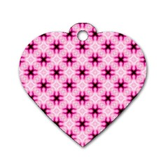 Cute Pretty Elegant Pattern Dog Tag Heart (two Sided) by creativemom