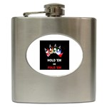 Quad Ace Hold Em or Fold Em - Hip Flask (6 oz)