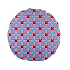 Cute Pretty Elegant Pattern 15  Premium Round Cushion  by creativemom