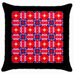 Cute Pretty Elegant Pattern Black Throw Pillow Case by creativemom