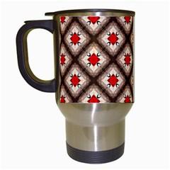 Cute Pretty Elegant Pattern Travel Mug (white) by creativemom