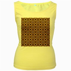 Cute Pretty Elegant Pattern Women s Tank Top (yellow) by creativemom