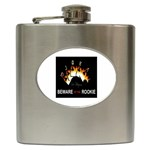 Royal Flush of Clubs Beware of the Rookie - Hip Flask (6 oz)