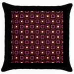 Cute Pretty Elegant Pattern Black Throw Pillow Case Front