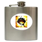 Royal Flush Poker  Hip Flask (6 oz)