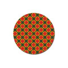 Cute Pretty Elegant Pattern Magnet 3  (round) by creativemom