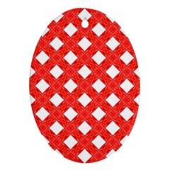 Cute Pretty Elegant Pattern Oval Ornament by creativemom