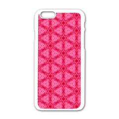 Cute Pretty Elegant Pattern Apple Iphone 6 White Enamel Case by creativemom