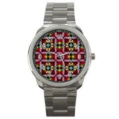Cute Pretty Elegant Pattern Sport Metal Watch by creativemom