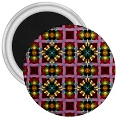 Cute Pretty Elegant Pattern 3  Button Magnet