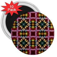 Cute Pretty Elegant Pattern 3  Button Magnet (10 pack)