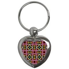 Cute Pretty Elegant Pattern Key Chain (Heart)