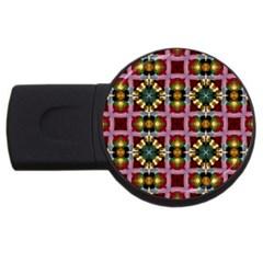 Cute Pretty Elegant Pattern 4GB USB Flash Drive (Round)