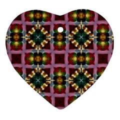 Cute Pretty Elegant Pattern Heart Ornament (Two Sides)