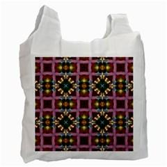 Cute Pretty Elegant Pattern White Reusable Bag (One Side)