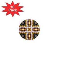 Cute Pretty Elegant Pattern 1  Mini Button Magnet (10 Pack) by creativemom