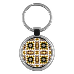 Cute Pretty Elegant Pattern Key Chain (round) by creativemom