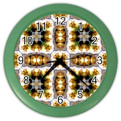 Cute Pretty Elegant Pattern Wall Clock (color) by creativemom