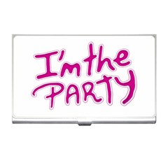 I Am The Party Typographic Design Quote Business Card Holder by dflcprints