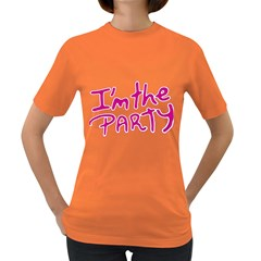 I Am The Party Typographic Design Quote Women s T Shirt (colored) by dflcprints