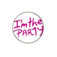 I Am The Party Typographic Design Quote Golf Ball Marker (for Hat Clip) by dflcprints