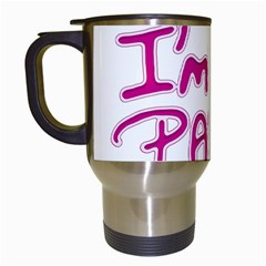 I Am The Party Typographic Design Quote Travel Mug (white) by dflcprints