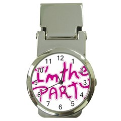 I Am The Party Typographic Design Quote Money Clip With Watch by dflcprints