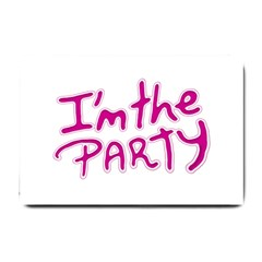 I Am The Party Typographic Design Quote Small Door Mat by dflcprints