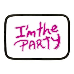 I Am The Party Typographic Design Quote Netbook Sleeve (medium) by dflcprints
