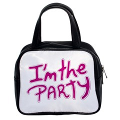 I Am The Party Typographic Design Quote Classic Handbag (two Sides) by dflcprints