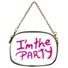 I Am The Party Typographic Design Quote Chain Purse (two Sided)  by dflcprints